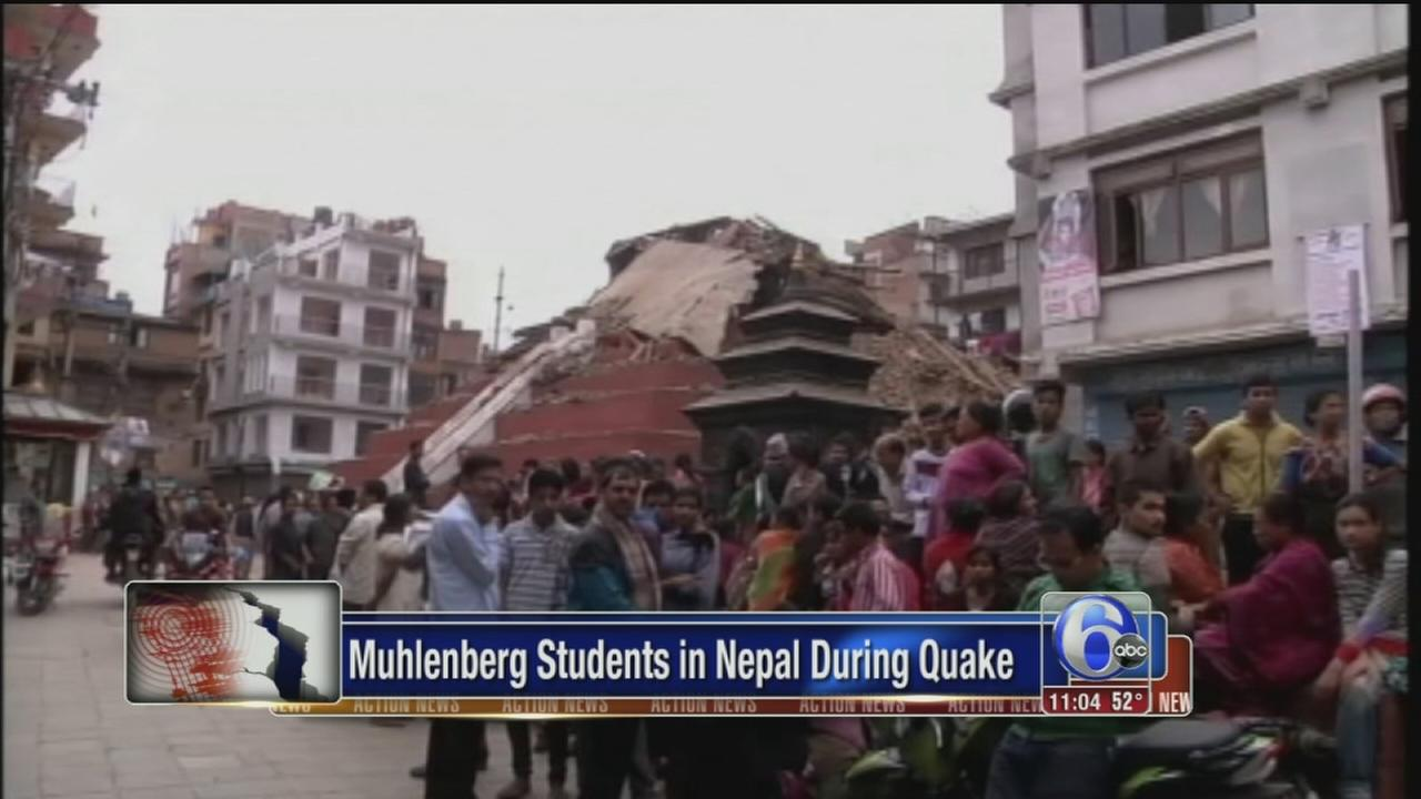 VIDEO: 4 Pa. college students survive deadly Nepal quake