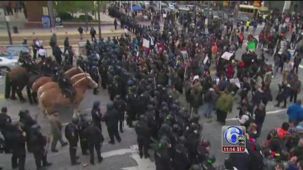 VIDEO: Freddie Gray protests in Baltimore turn violent