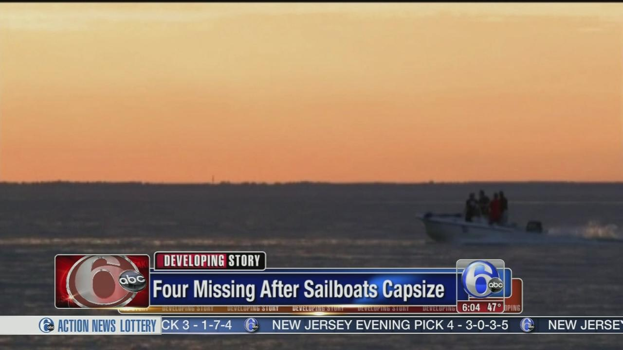 VIDEO: 4 missing after sailboats capsize in Alabama