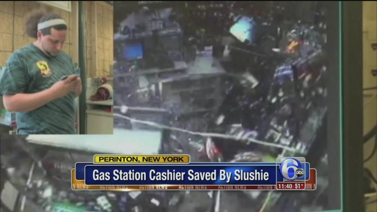 VIDEO: How did a slushie save a gas station clerks life?