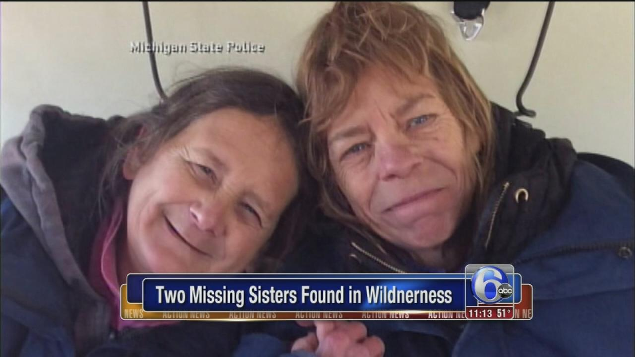 VIDEO: Love, cookies help sisters lost in woods