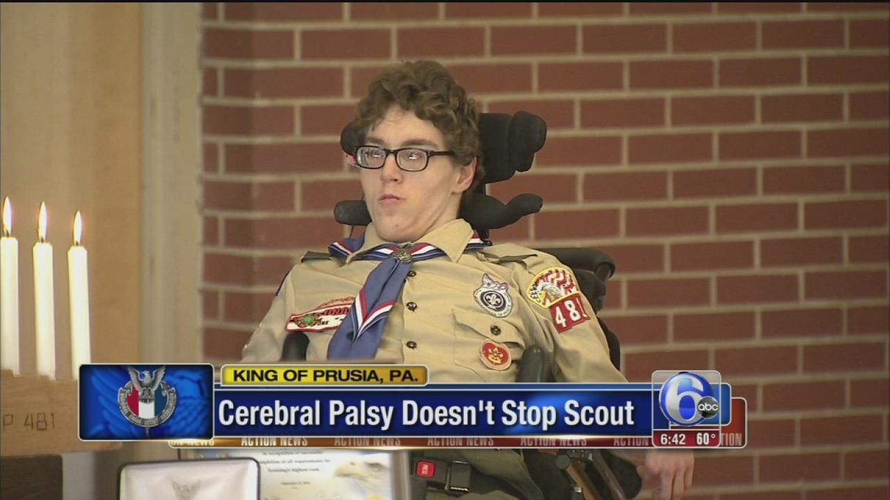 VIDEO: Man overcomes cerebral palsy to earn Eagle Scout