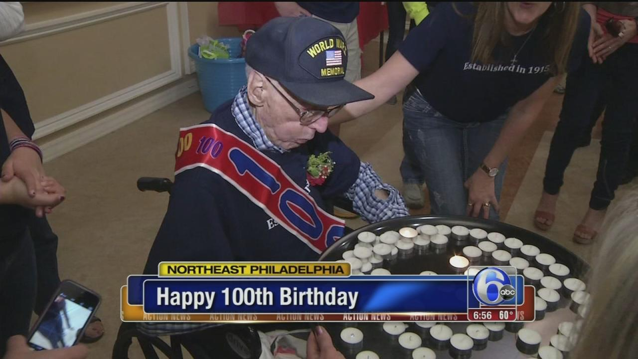 VIDEO: NE Phila. veteran celebrates 100th birthday