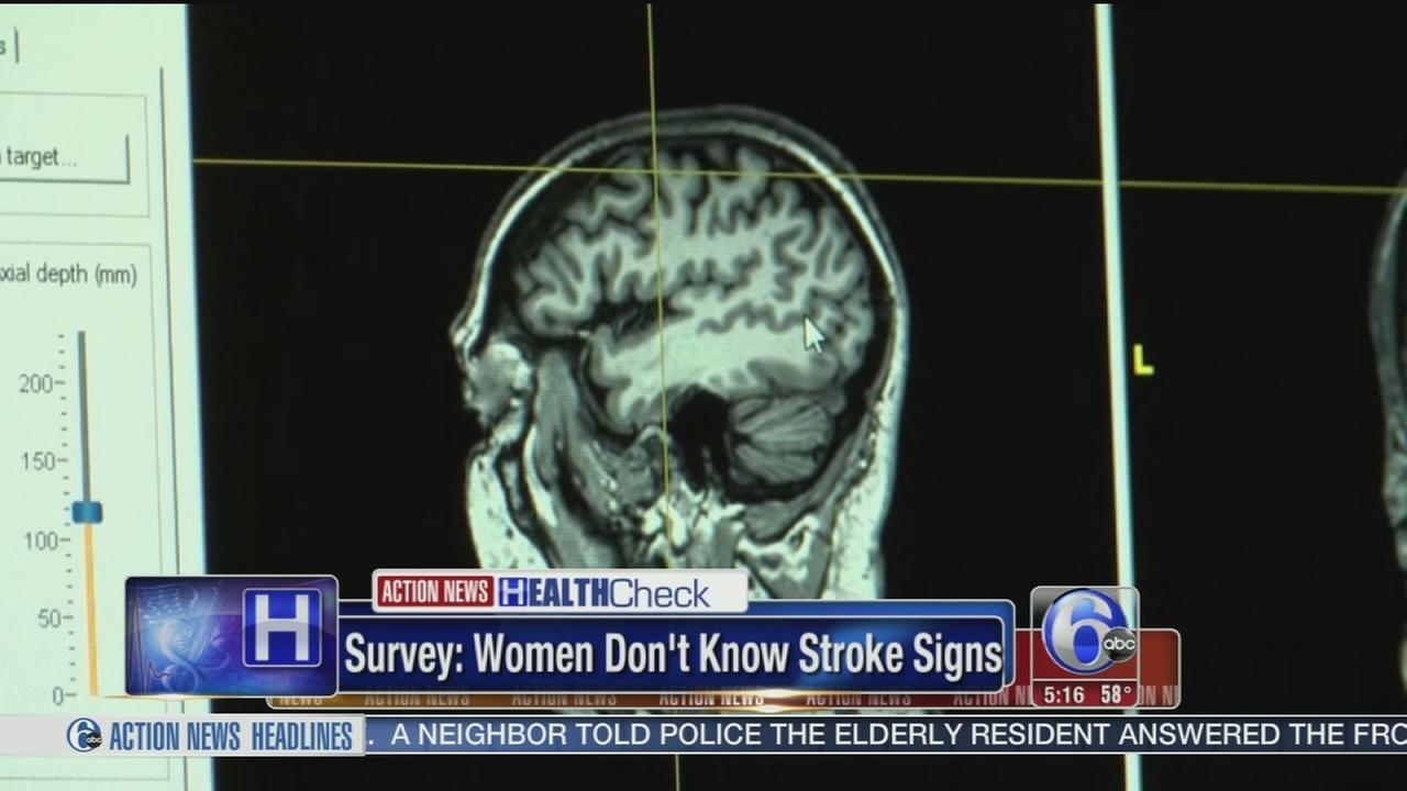 VIDEO: Survey: Women dontk now stroke signs