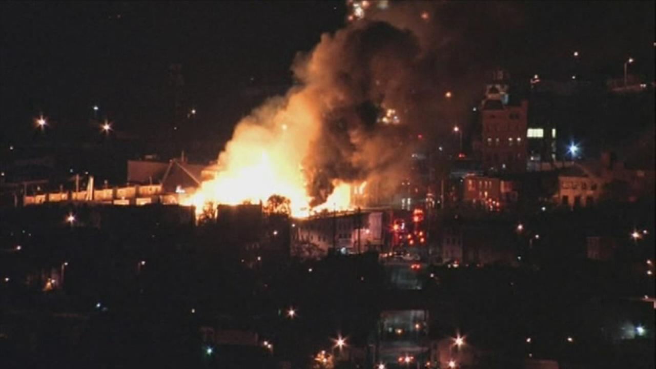 VIDEO: Massive fire in Baltimore