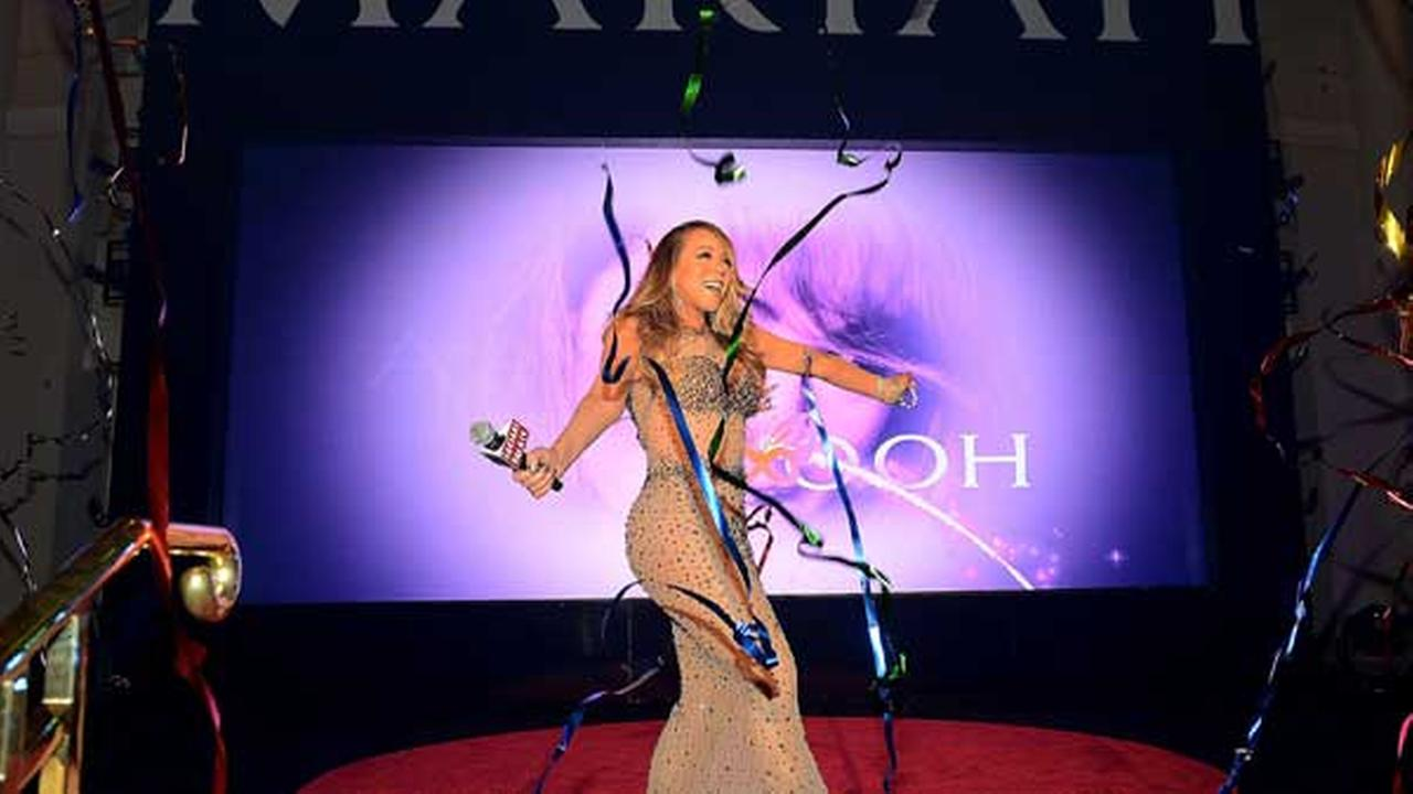 Mariah Carey celebrates her official arrival at Caesars Palace on April 27, 2015 in Las Vegas, Nevada.