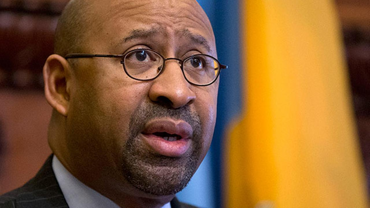 FILE - Philadelphia Mayor Michael Nutter speaks during news conference Wednesday, March 25, 2015, at City Hall in Philadelphia.