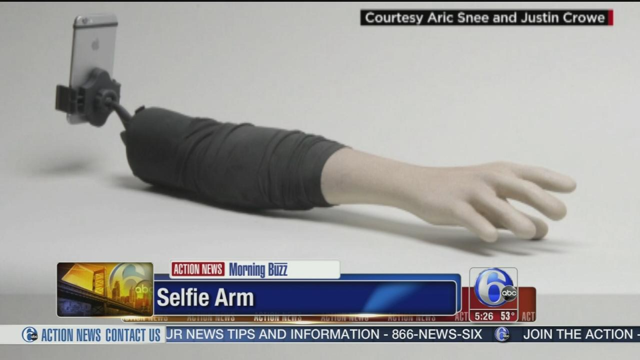 VIDEO: Would you buy a selfie arm to take pictures