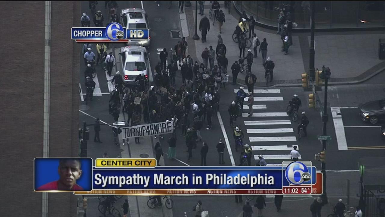 VIDEO: Sympathy march in Philadelphia