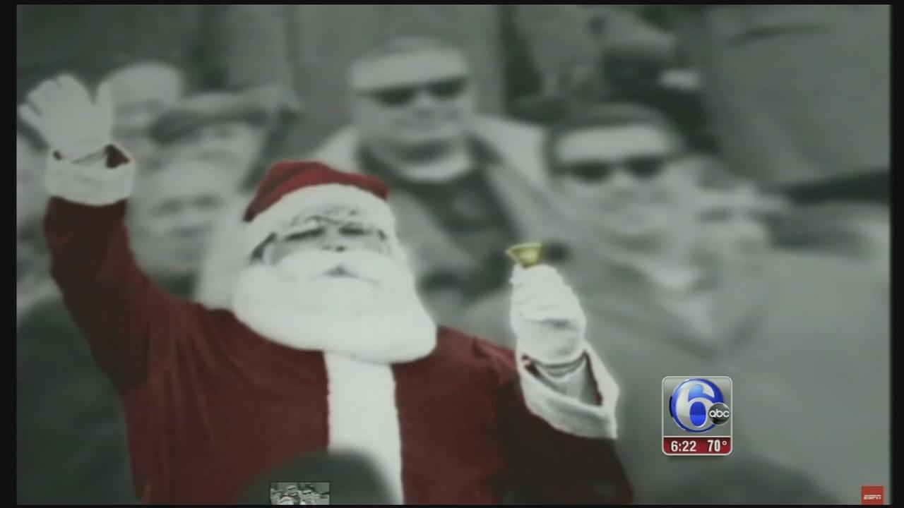 VIDEO: Frank Olivo, Santa pelted with snow at 68 Eagles game, dies
