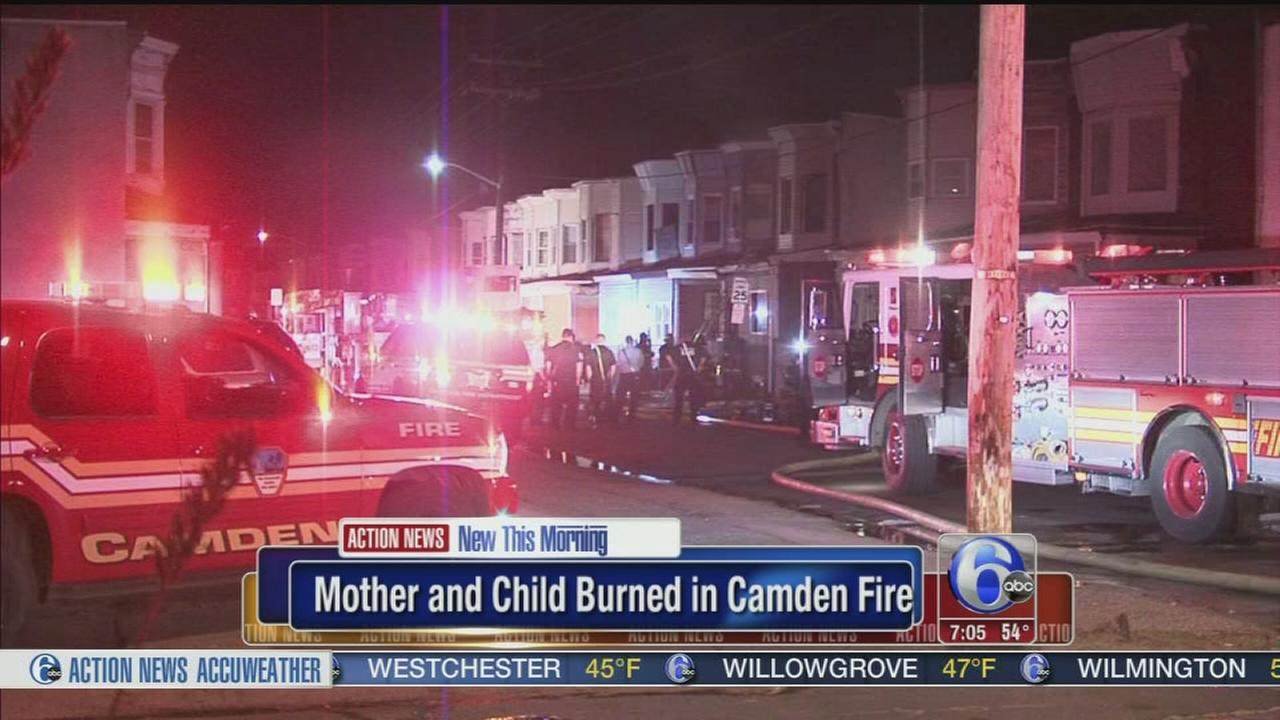VIDEO: Mother, child escape Camden fire