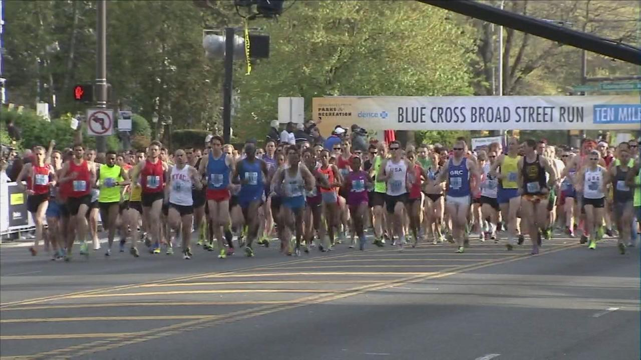 VIDEO: Broad Street run begins