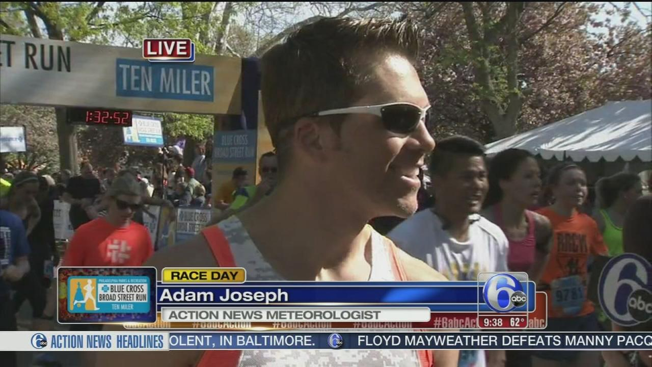 VIDEO: Adam Joseph completes Broad Street Run