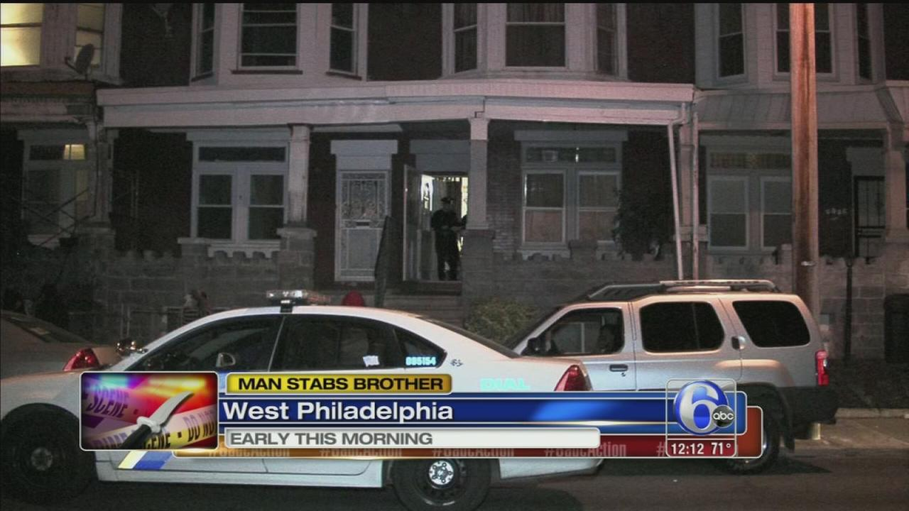 VIDEO: Man stabs brother in West Philadelphia