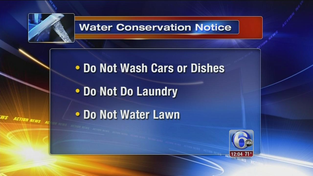 VIDEO: Conserve water order in Norristown area