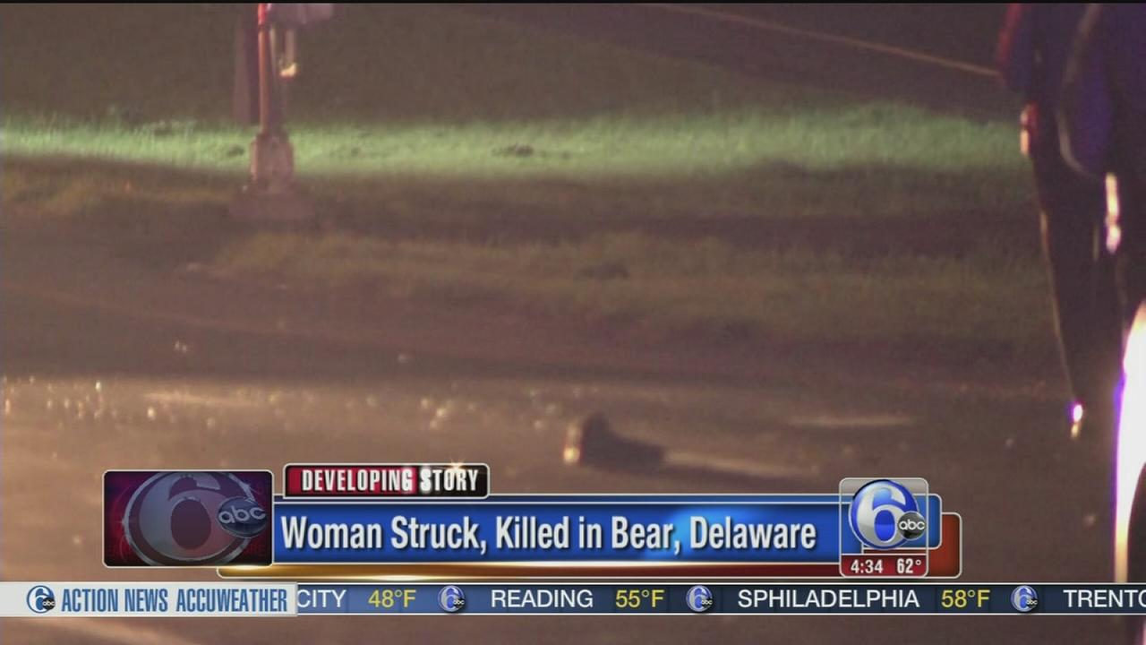 VIDEO: Woman struck, killed in Del.