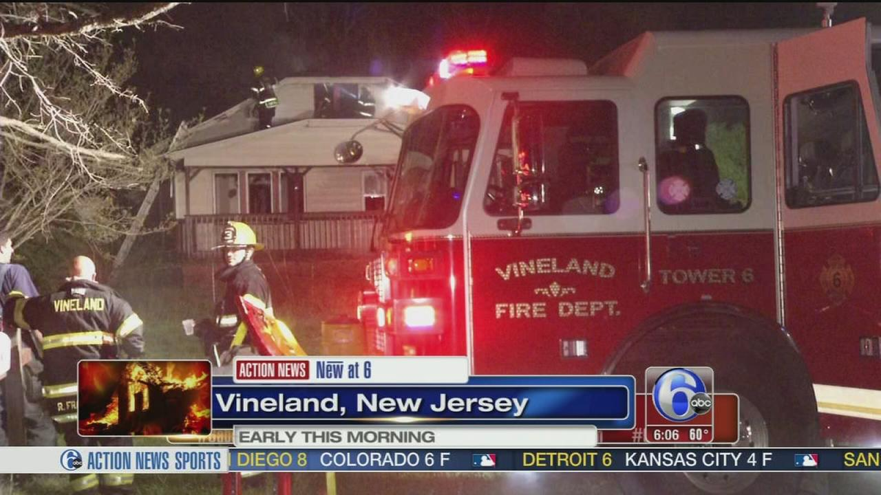VIDEO: Fire damages home in Vineland, NJ