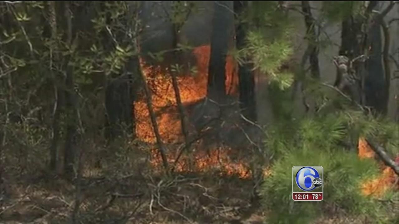VIDEO: Wildfires burning in Burlco