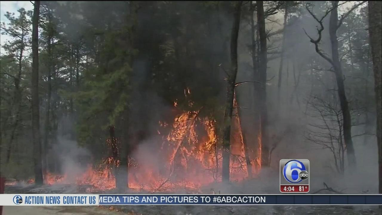 VIDEO: Pemberton, NJ wildfires