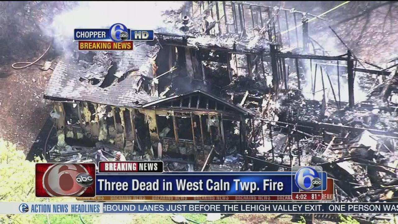 VIDEO: 3 dead in Chester County fire