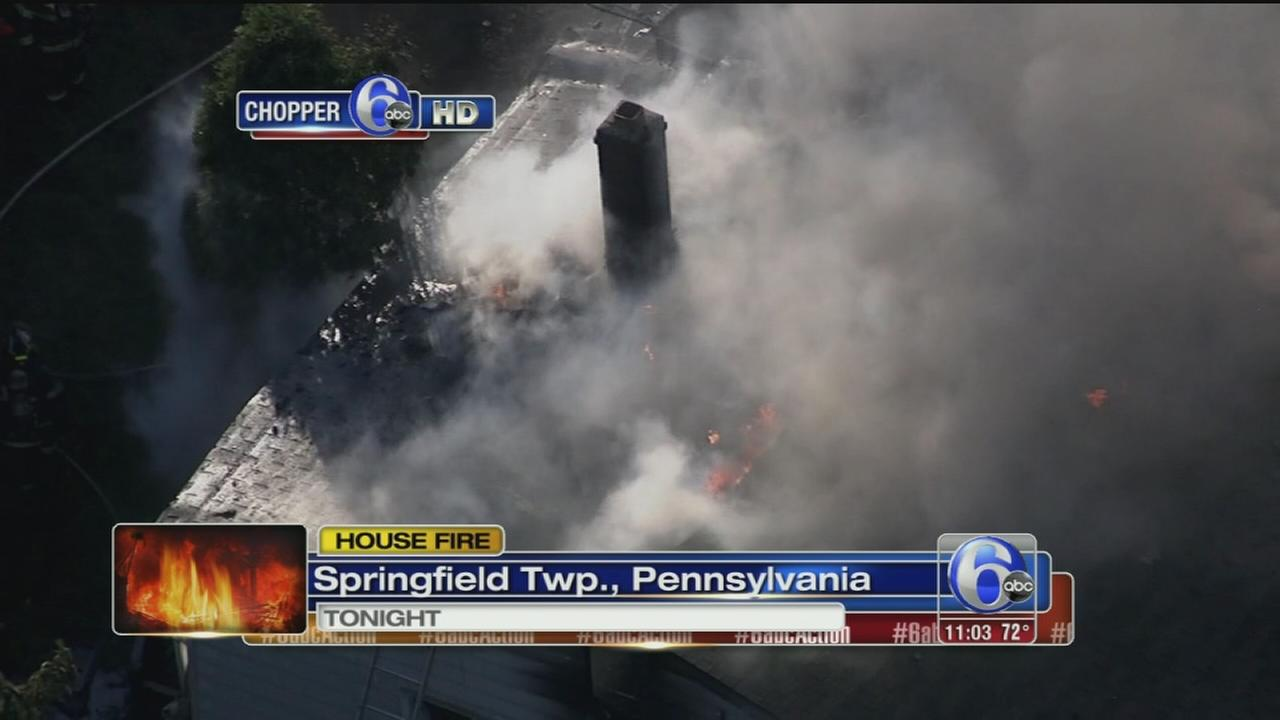 VIDEO: Fire in Springfield Twp., Pa.