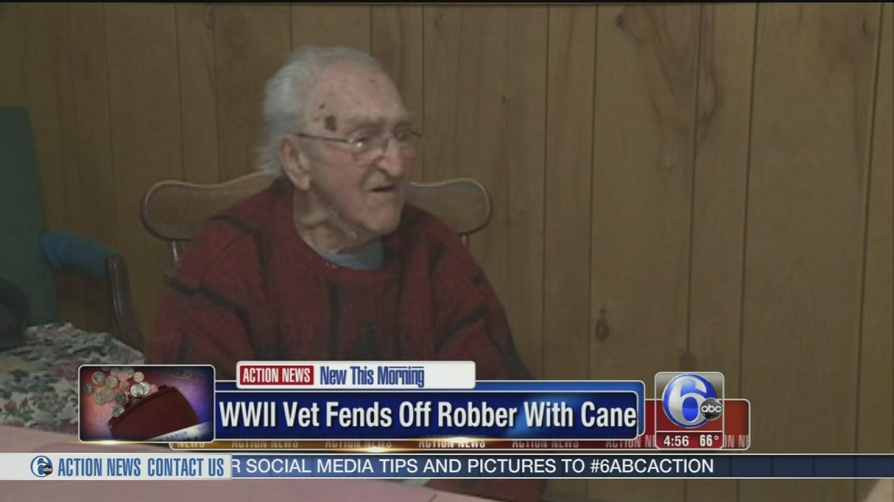 VIDEO: WWII veteran fends off robber with cane