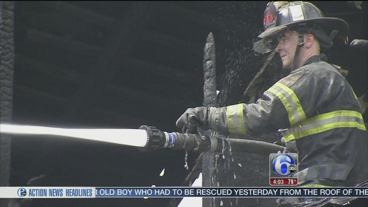 VIDEO: Row home fire in Reading