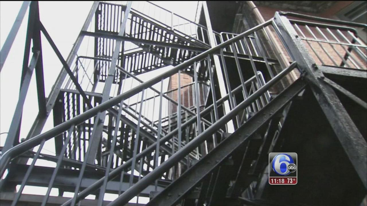 VIDEO: Fire escape collapse investigation
