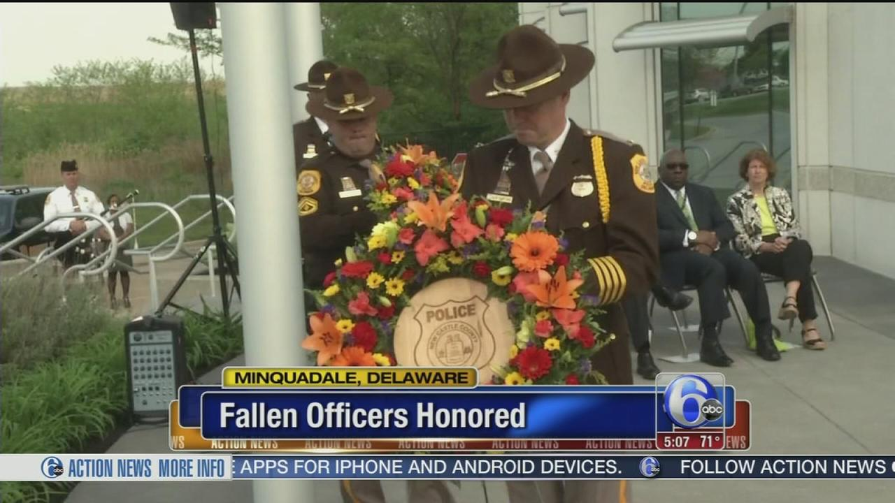 VIDEO: Fallen officers honored in New Castle Co.