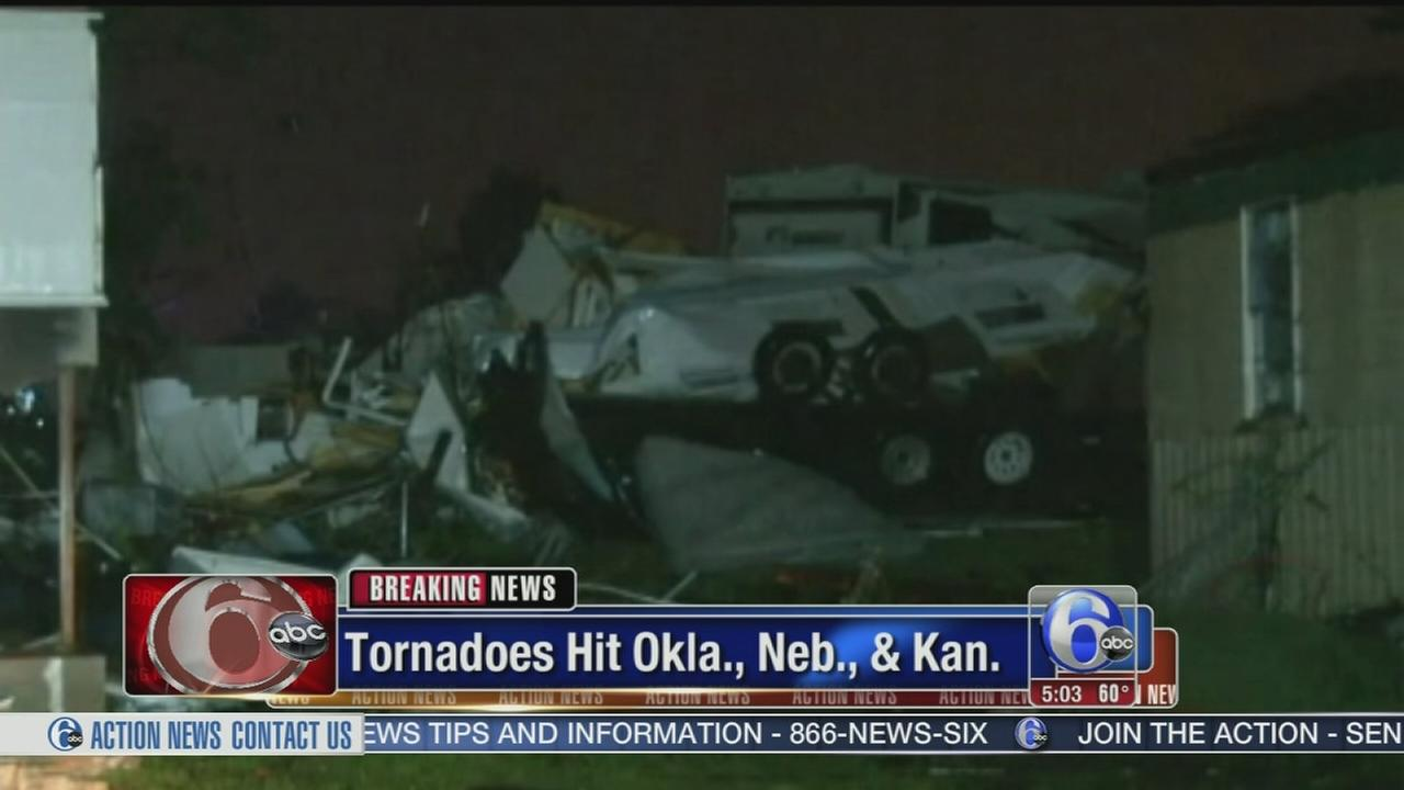 VIDEO: Tornadoes destroy homes, injure at least 12 in Oklahoma
