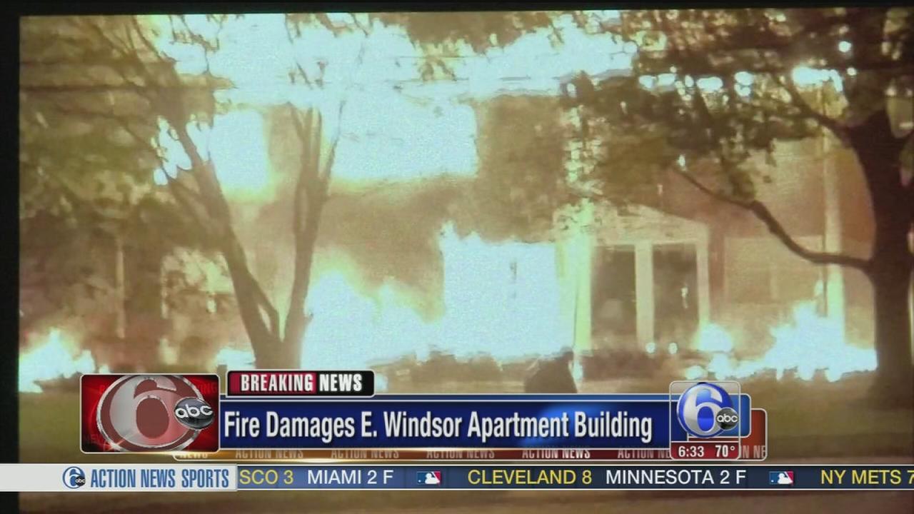 VIDEO: 2 hurt in East Windsor Twp. fire