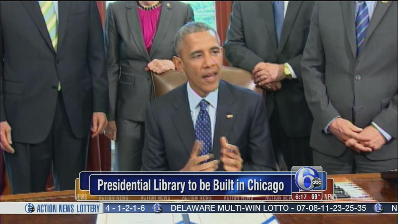 VIDEO: Obama library to be built in Chicago