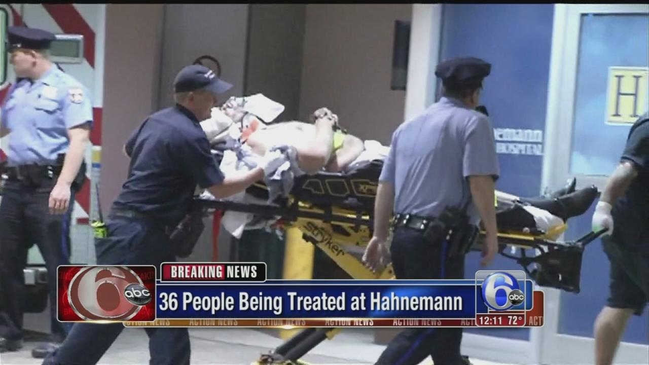VIDEO: 36 people treated at Hahnemann
