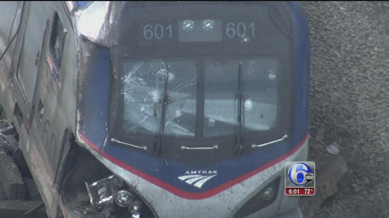 VIDEO: Did something strike Amtrak train before crash?