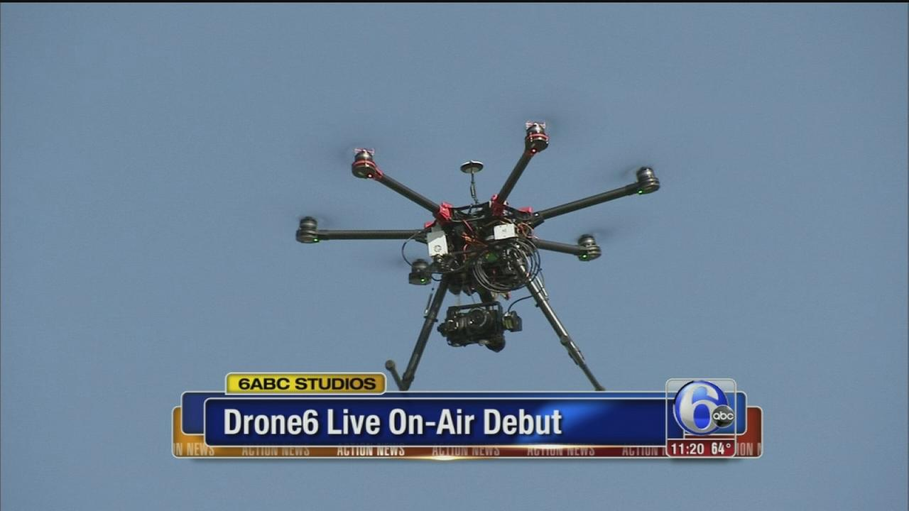 VIDEO: Drone 6 makes a live on-air debut