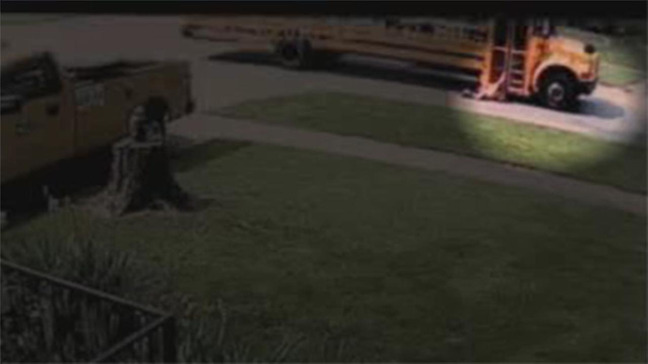 Girl dragged by school bus