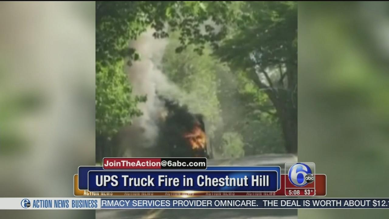 Join the Action VIDEO: UPS truck catches fire