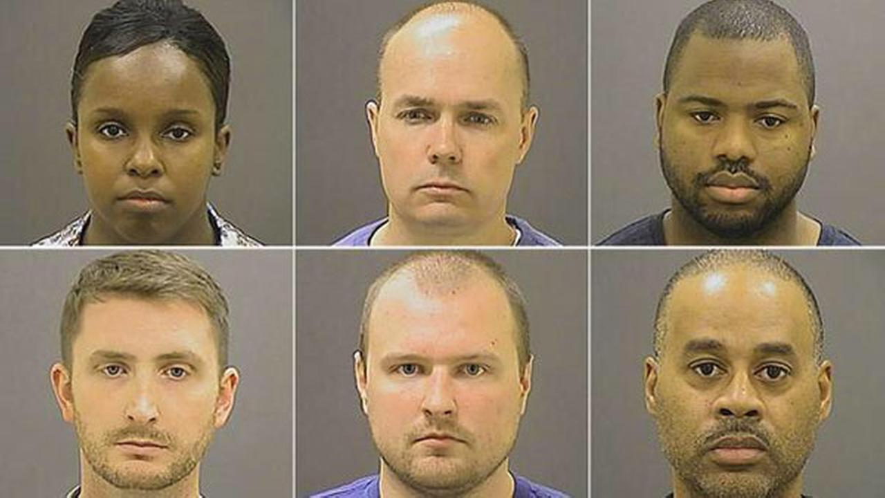 Six Baltimore police officers have been charged in connection with the death of Freddie Gray.