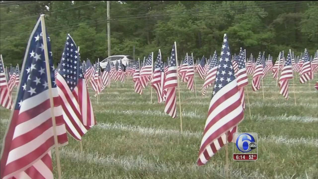 VIDEO: NJ students plant flags in honor of Memorial Day