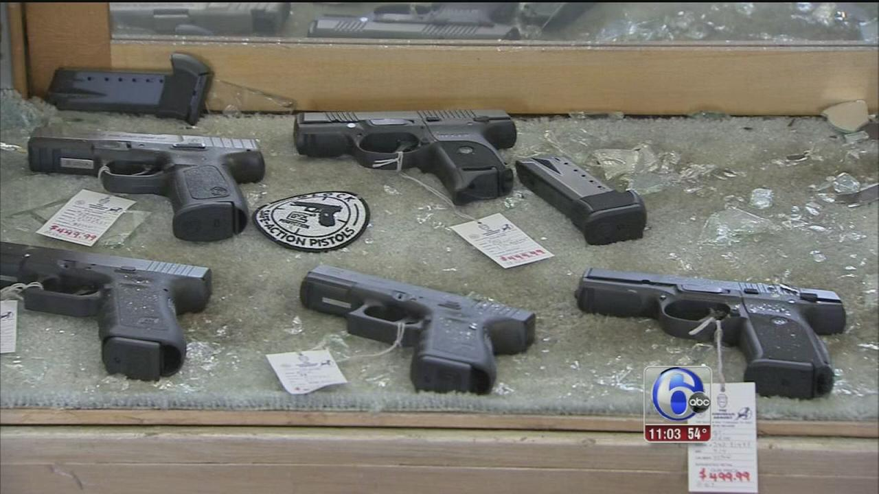 VIDEO: 19 guns stolen from Collingdale shop