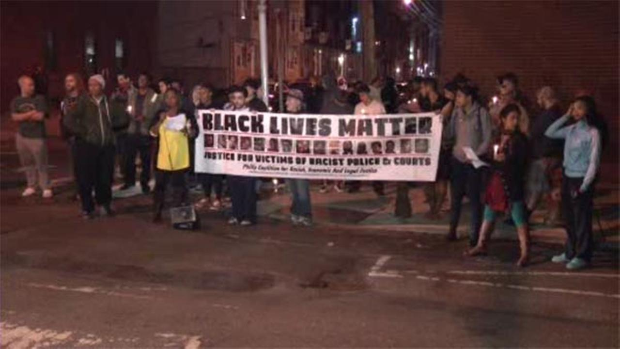 Dozens protest police brutality in North Philadelphia