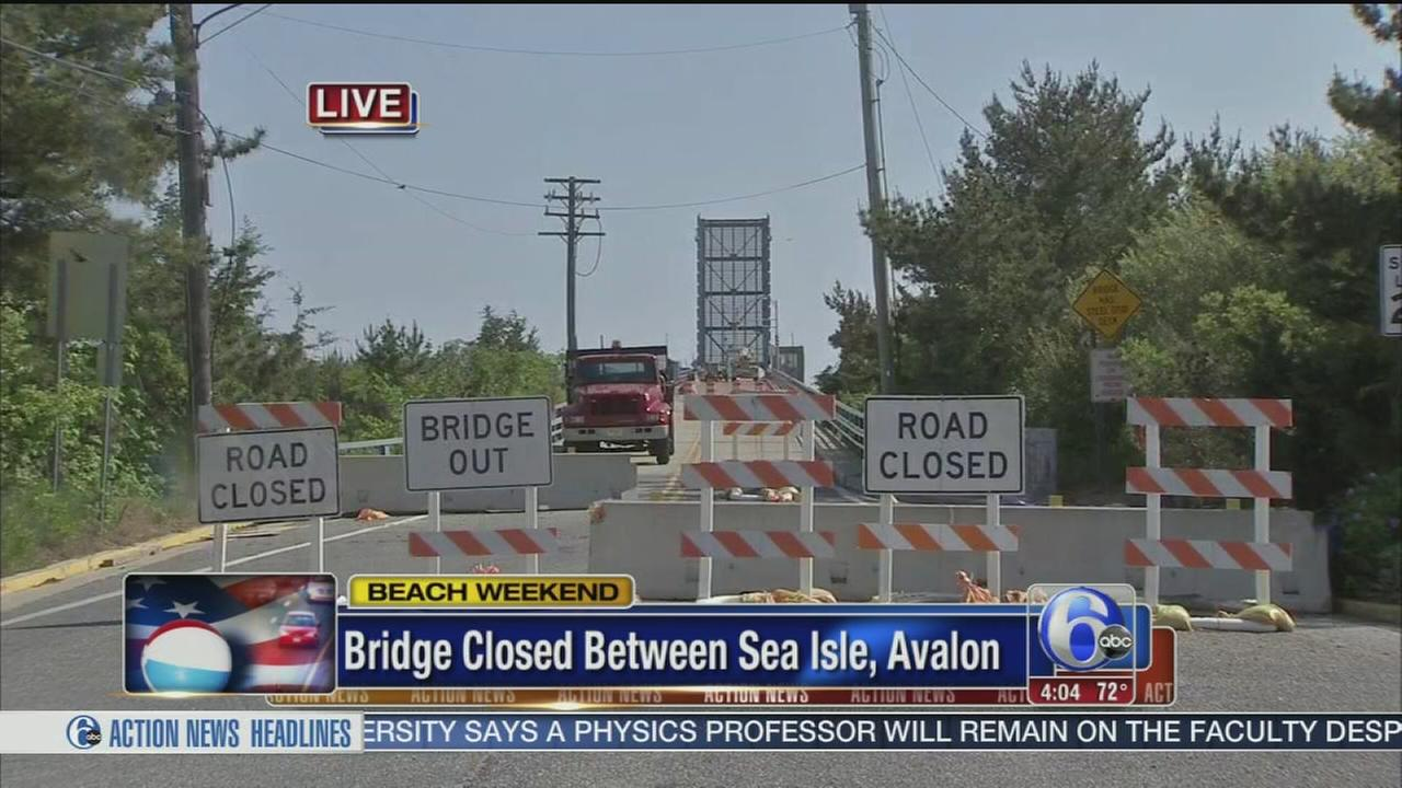 VIDEO: Bridge connecting shore towns still closed