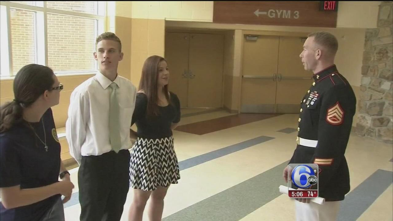 VIDEO: Ceremony honors students headed to military service