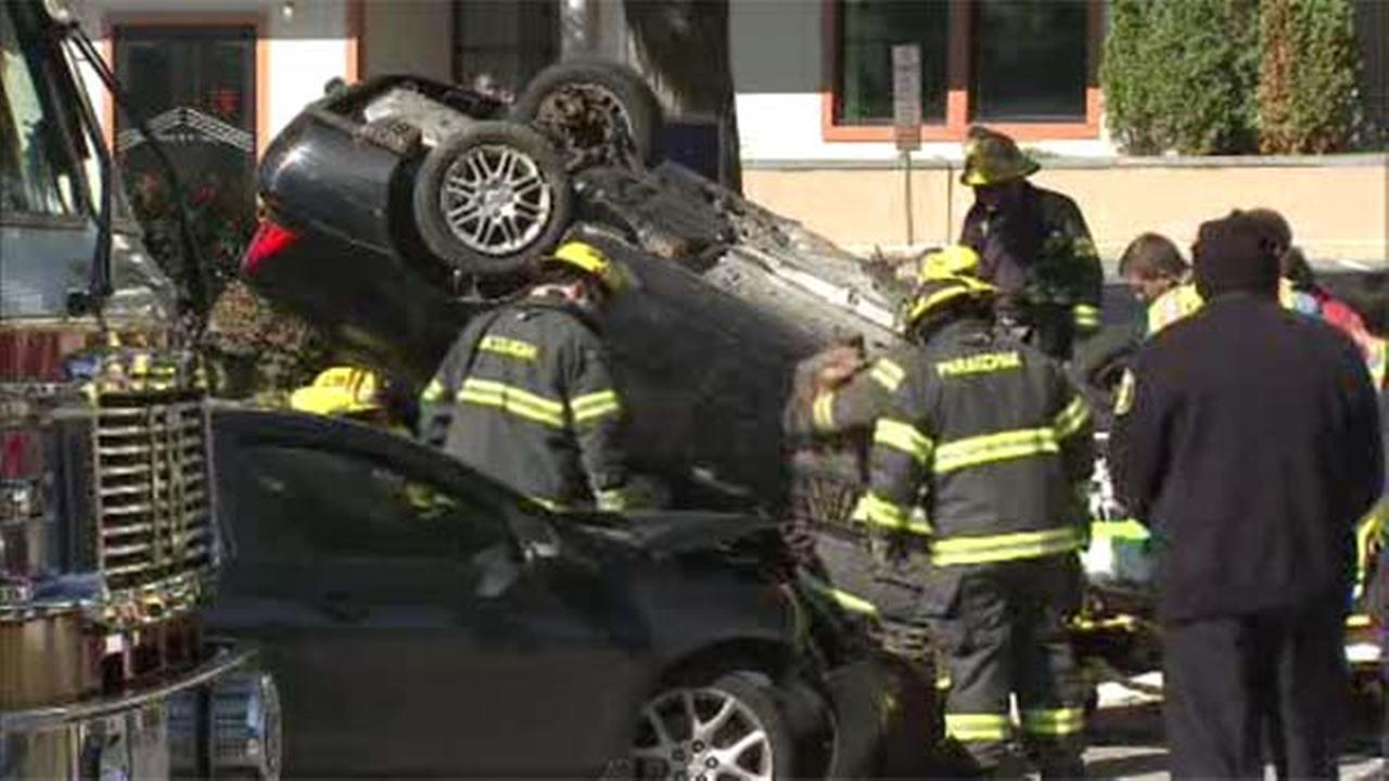 1 person rescued after 2-vehicle crash in Bala Cynwyd