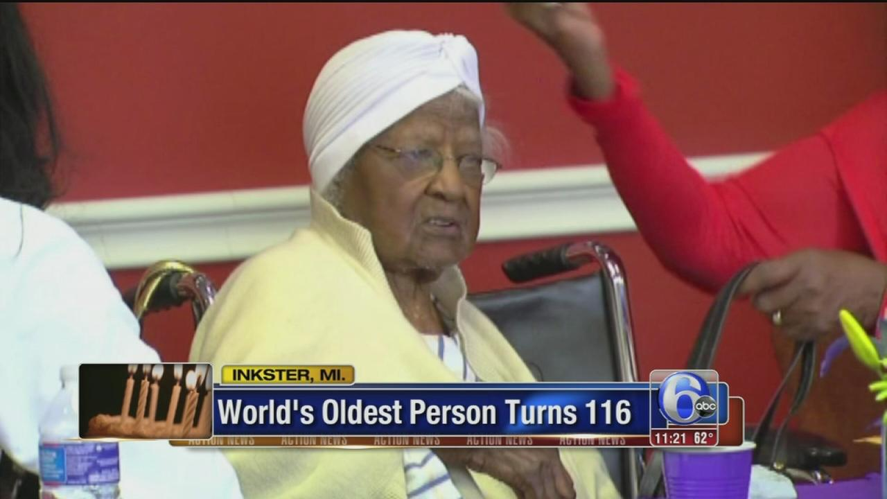 VIDEO: Worlds oldest person turns 116