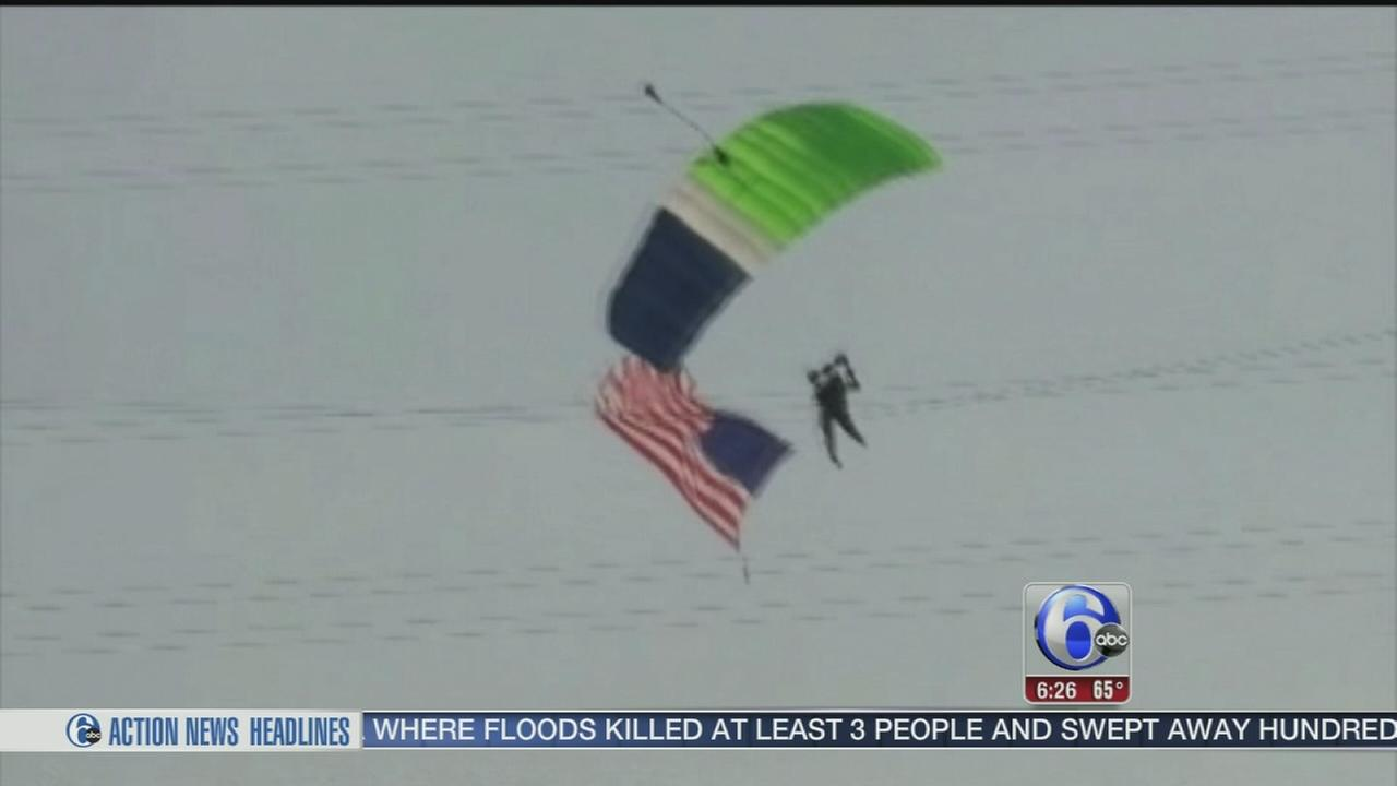 VIDEO: Skydiver okay after crashing into power lines