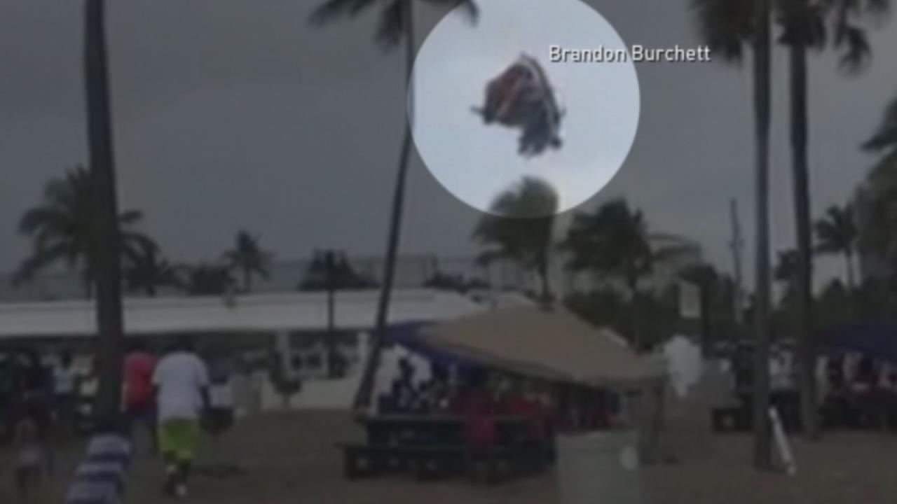 VIDEO: Bounce house with kids launched into the air