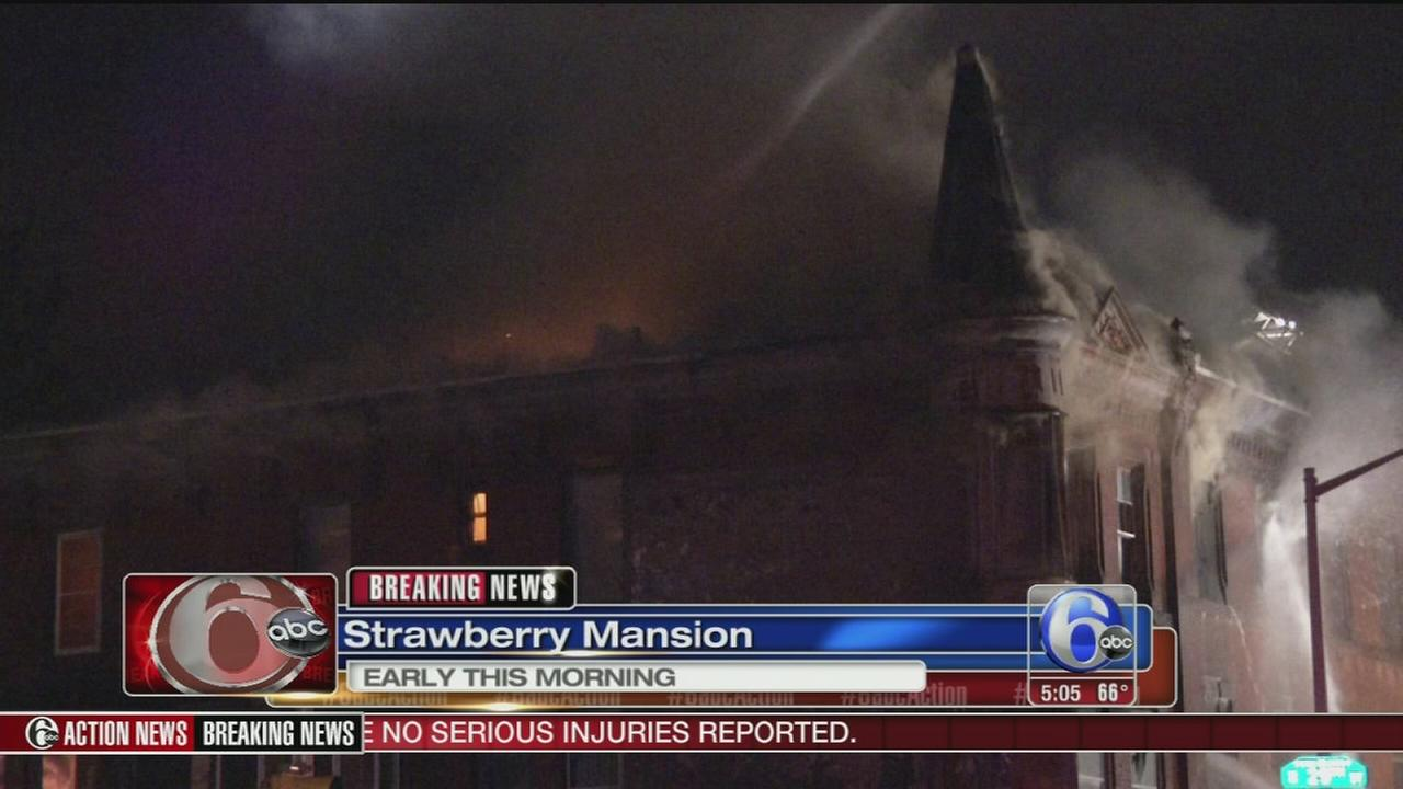 VIDEO: Fire damages homes in Strawberry Mansion