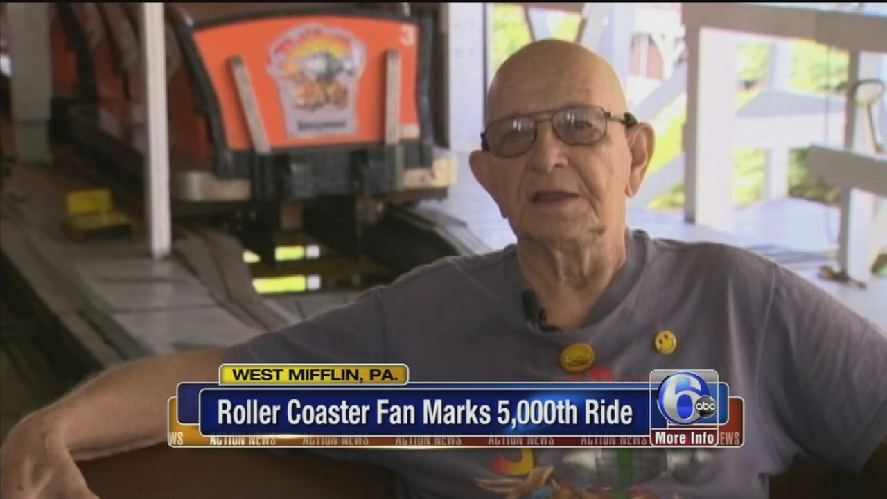 VIDEO: Roller coaster 5,000 rides