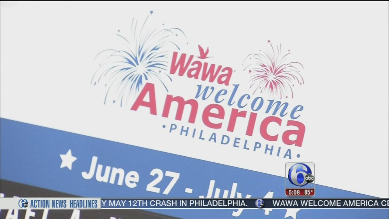 VIDEO: Wawa Welcome America takes shape